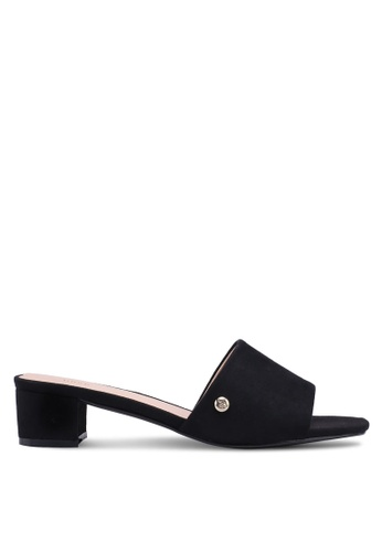 Nose 黑色 Casual Open Toe Block Heel Slide Ons B30D8SH830D714GS_1