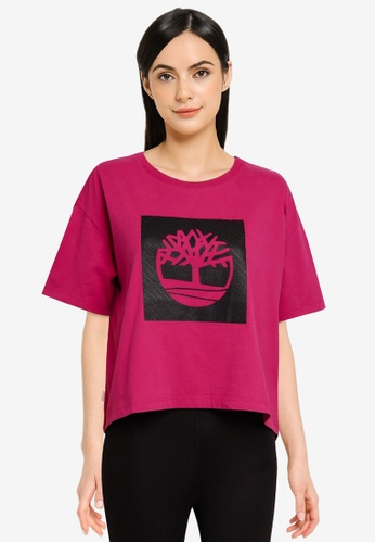 Timberland pink Est. 1973 Box Logo Tee A403FAAD7A4221GS_1