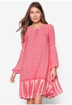 Gypsy Print Smock Dress