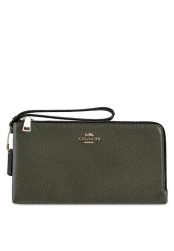 Coach green Double Zip Wallet (cv) 2CA67ACCE3C438GS_1