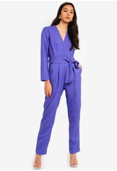 1ecef1a3925 CLOSET purple Closet Cross Over Jumpsuit 36DCFAA0A2E25EGS 1