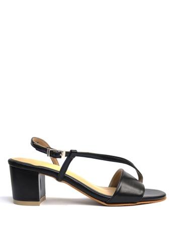KHAS black Strappy Sandal Black 78BAFSHFD81F97GS_1