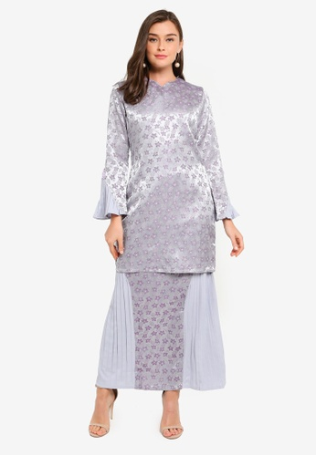 Gene Martino grey Kurung Modern Sempit 59E9EAA5BAD019GS_1