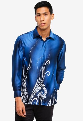 554c5ac117d39b Buy Gene Martino Men s Batik Shirt Online on ZALORA Singapore