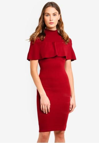 MISSGUIDED 紅色 褶飾洋裝 44EA8AA60EC28AGS_1