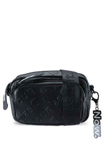 Desigual black Crossbody Embossed Logo Bag 895F4ACAF37218GS_1