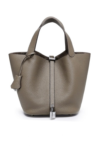 Twenty Eight Shoes grey VANSA Simple Leather Bucket Hand Bag VBW-Hb928700L 1A502AC5763229GS_1