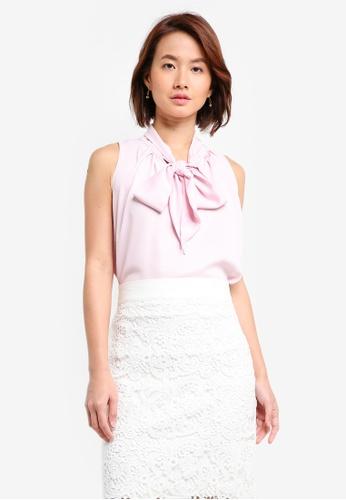 Vesper pink Vesper Nisha Bow Detail Top B8001AAE64EA90GS_1