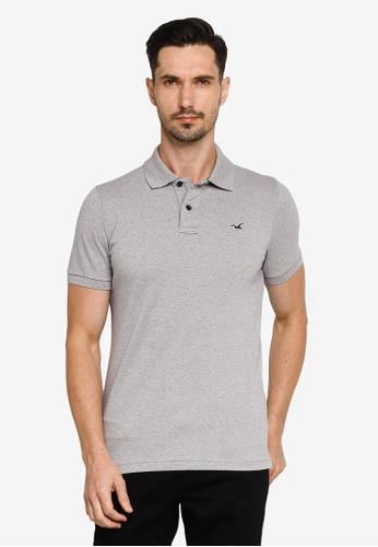 Hollister grey Musclefit Polo Shirt 91022AAE4D5F71GS_1