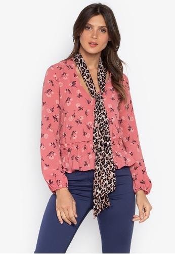 DEBENHAMS pink Red Herring - Rh Rose Leopard Blouse 402E9AA05C16CBGS_1