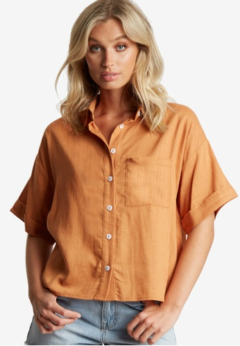 The Fated orange Something About You Shirt 4A5BDAA7447638GS_1