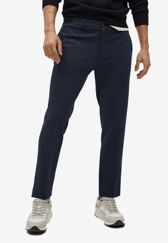 Mango Man blue Slim-Fit Cotton Trousers 56DF7AA8A60A5BGS_1