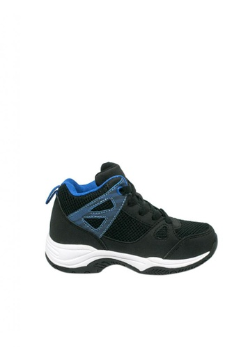 Step One black Boys' Allen Basketball Shoes 54B4BKS1A1F840GS_1