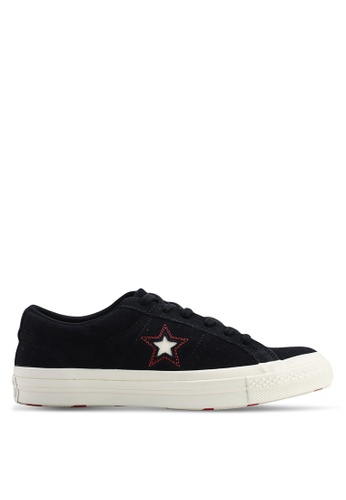 Converse black One Star Love In The Details Ox Sneakers 7E7C2SHBF0627FGS_1