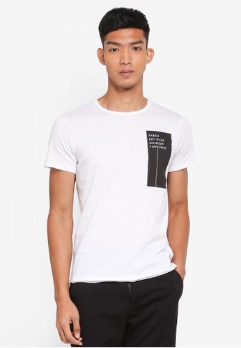 OVS 白色 短袖印花T恤 7073AAAF86995CGS_1
