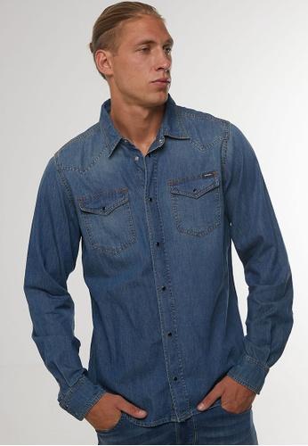 Diesel blue NEW-SONORA CAMICIA Denim Shirt C7812AA51B6EBFGS_1