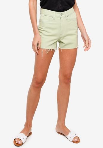 H&M green Slim Denim Shorts B9AC0AAC106118GS_1