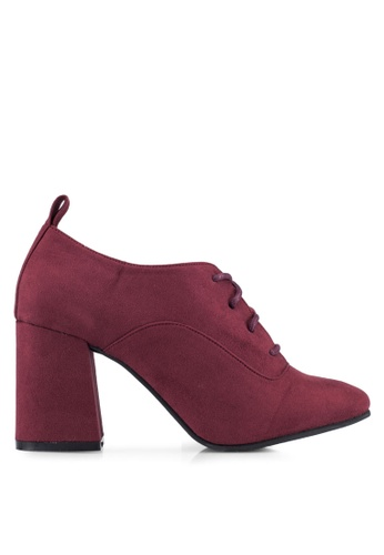 ZALORA red Lace Up Ankle Boots 6FD41ZZ6ACC944GS_1