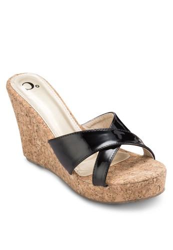 交叉帶楔型跟涼鞋esprit outlet 台中, 女鞋, 楔形涼鞋
