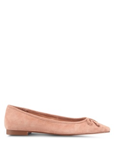 d1d785f24f3c32 MANGO pink Bow Leather Ballerina Flats 6BB65SH50FB87CGS 1