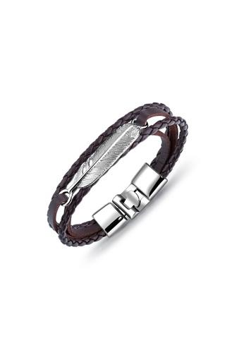 ADORA silver Leather Bracelet BB67AACB9B8123GS_1