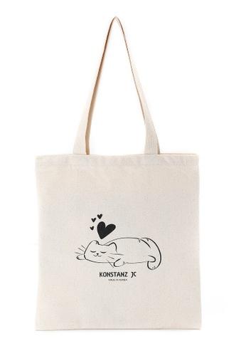 KONSTANZ JC 米褐色 KONSTANZ JC - 韓國製帆布袋 (貓貓 Ame) 7776EAC9FE3BC8GS_1