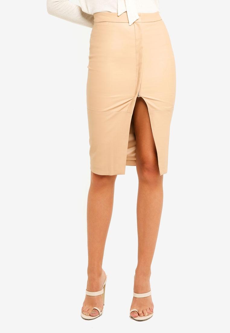 Nude Wrap Bardot Skirt Midi Dee AIx55naqT