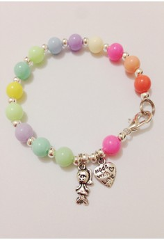 Pastel Bracelet with Girl and Heart