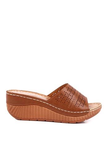 CLARETTE brown Clarette Wedges Dormer Camel CL076SH72QJBID_1