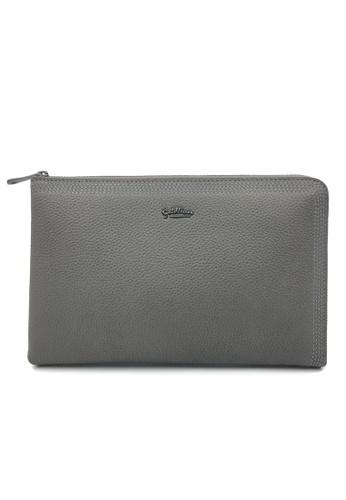 Goldlion grey Goldlion Premium Leather Clutch D26A0AC71B84F2GS_1