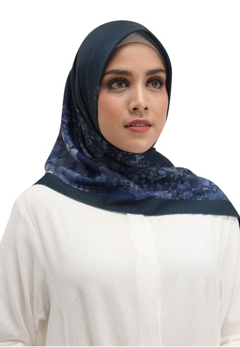 Buttonscarves navy Buttonscarves New York Reborn Voile Square Dumbo D97A8AA8B0B9BEGS_1
