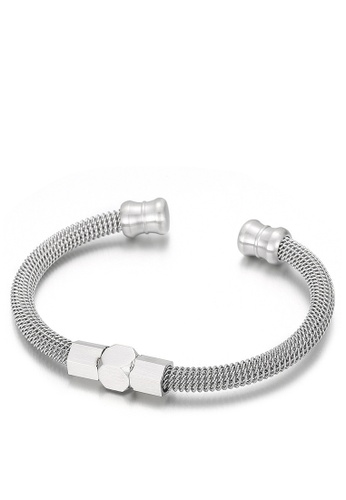 HAPPY FRIDAYS Stainless Steel Spring Cable Bracelet KL147175 C0097AC821EB33GS_1