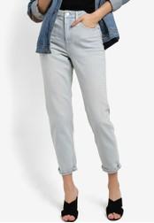 TOPSHOP blue MOTO Ocean Bleach Mom Jeans TO412AA44WUTMY_1