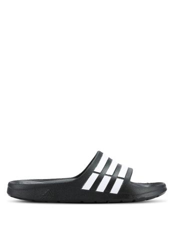 adidas black adidas Performance Duramo Slides AD372SH0RASPMY_1