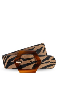 ae8d0c3fa5 TOPSHOP brown Tiger Tortoiseshell Buckle Belt 86742AC1B87AC4GS_1