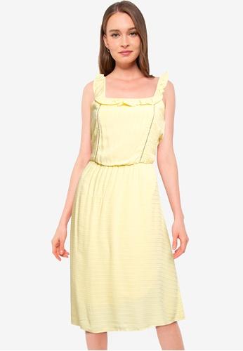 Vero Moda yellow Siff Dress 7C2D4AA00AA4D6GS_1