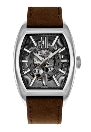 Aries Gold brown Aries Gold Infinum Cruiser Silver and Brown Leather Watch 3B9A9ACEBB46C5GS_1