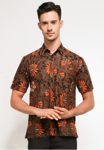 Jening Batik black and orange Jening Batik Short Sleeve JNGBT004 Black Orange 31EEEAA72FD6BBGS_1
