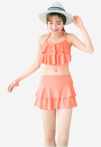 Sesura orange Sweetest Frills Bikini Set 26879USD1DEA41GS_1