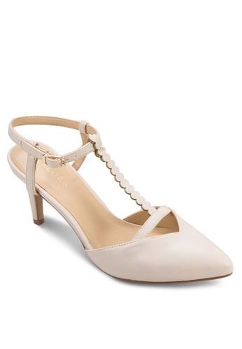 T 字繞踝尖頭高跟鞋,zalora 順豐 女鞋, 厚底高跟鞋