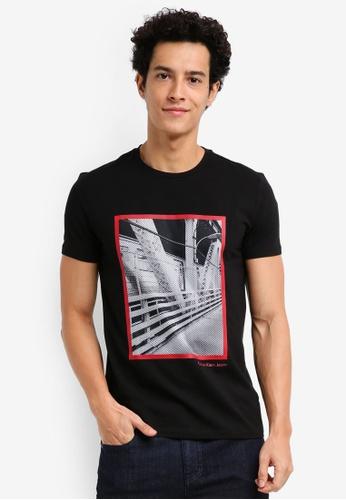 Calvin Klein 黑色 Teage Slim Crew Neck Short Sleeve T-Shirt - Calvin Klein Jeans 86684AA6D961E8GS_1