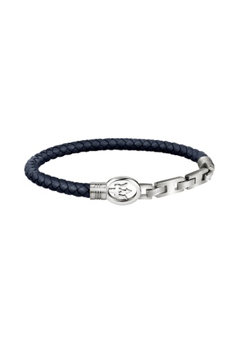 Maserati blue Maserati BR Blue Leather Bracelet JM320ASS01 DDBA5ACEB55010GS_1