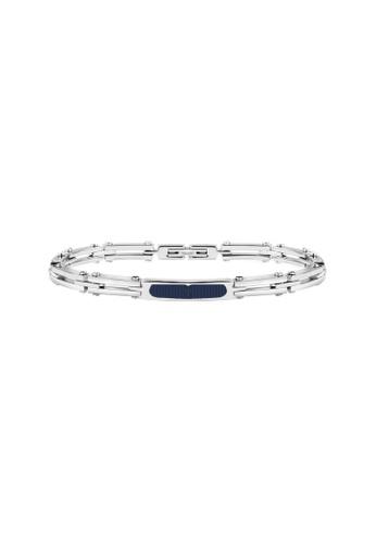 Maserati blue Prestige Bracelet JM417AKV02 Steel Rubber EC227ACB0221E9GS_1