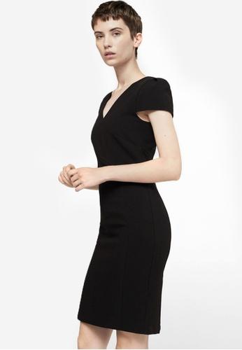 Mango black Seam Bodycon Dress MA193AA0RK8CMY_1