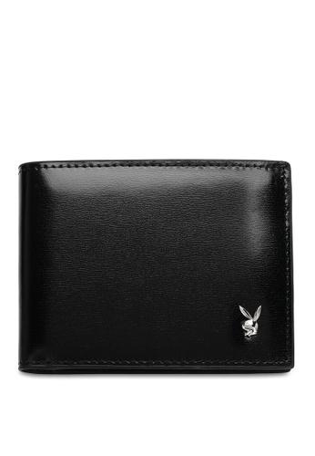 Playboy black Men's Bi Fold Wallet C13CCAC6855911GS_1