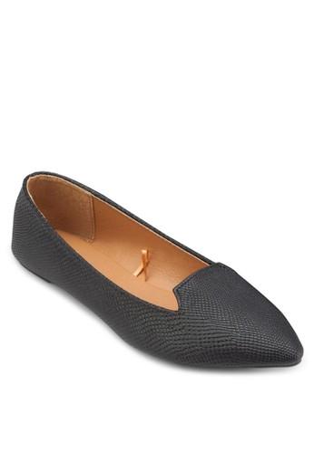 Delta 尖esprit 寢具頭平底鞋, 女鞋, 印花時代