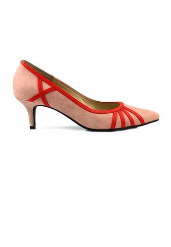 SHINE pink SHINE Point Toe Heel Pumps 6393CSHE9E4DA2GS_1
