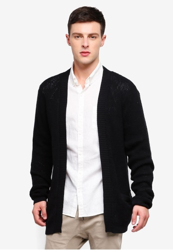 Cotton On 黑色 Lightweight Cable Cardigan D3FBEAAEEF0803GS_1