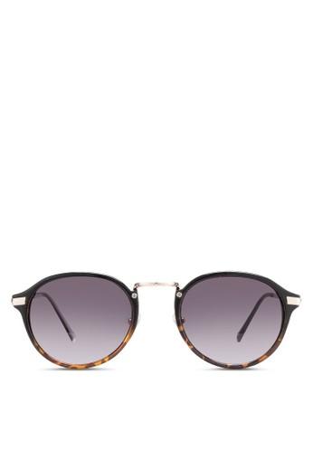 Casperesprit香港分店地址 黑色 Round 太陽眼鏡, 飾品配件, 飾品配件