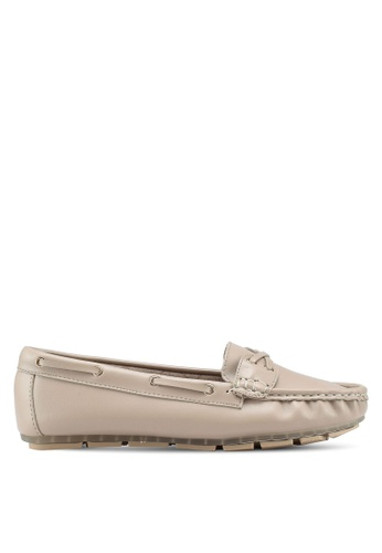 Bata beige Slip On Loafers D4182SH1B7A894GS_1